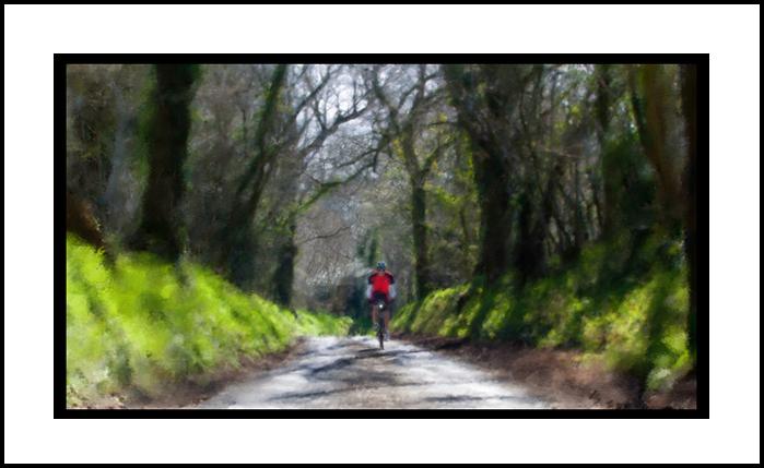 Cyclist - Digital Art from Kate Jackson