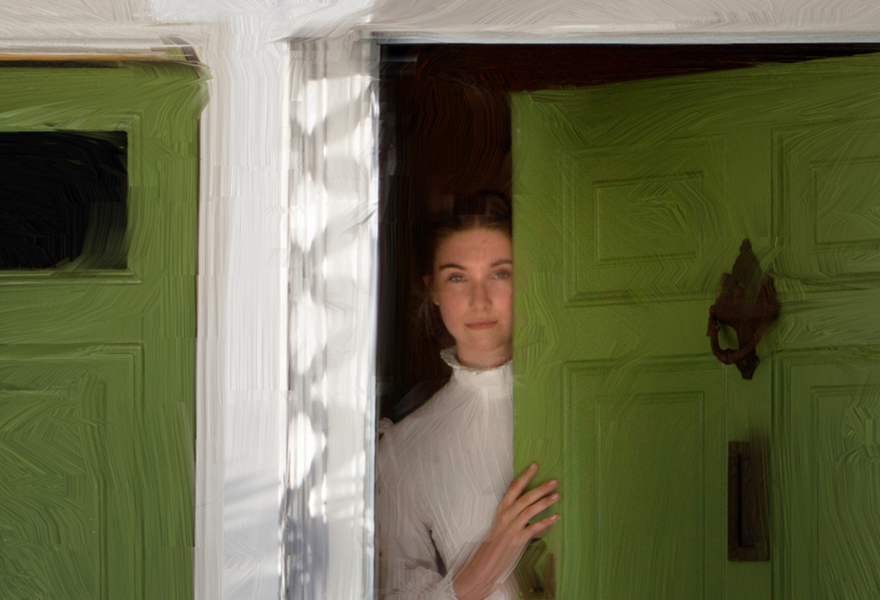 Green Doors - from Kate Jackson Art
