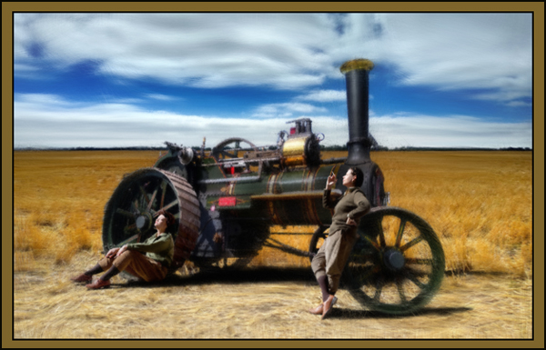 Steam Traction Engine - from Kate Jackson Art