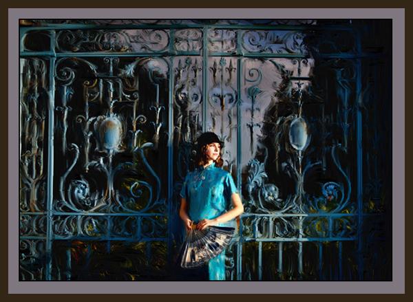 Rhinefield Blue Gates - Digital Art from Kate Jackson