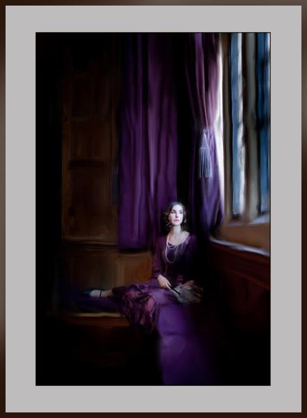 Rhinefield Purple Window - from Kate Jackson Art